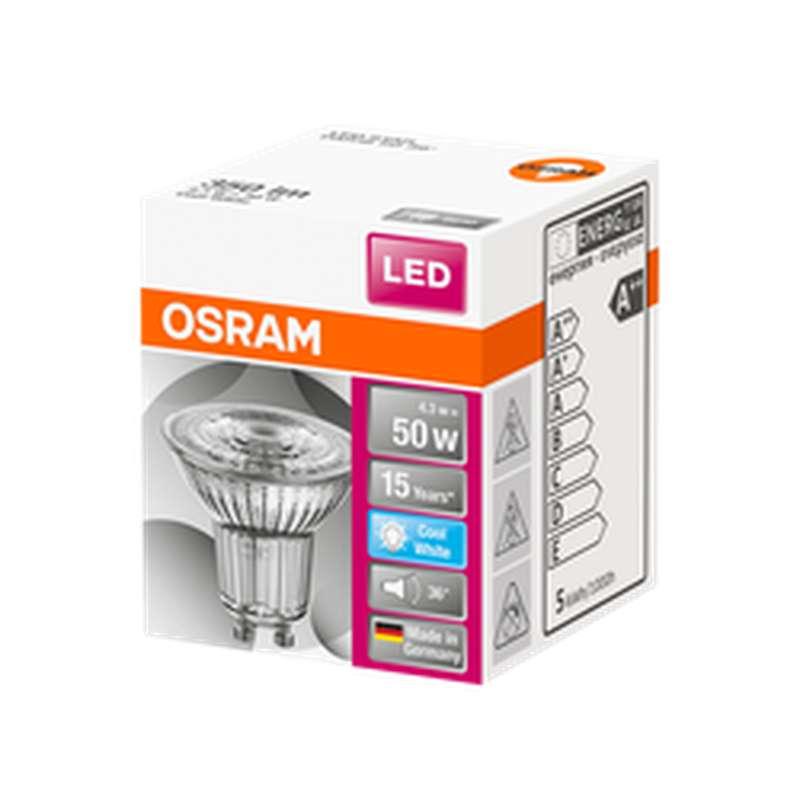 Ampoule LED Spot PAR16 50W culot GU10 - blanc froid, Osram (x 1)