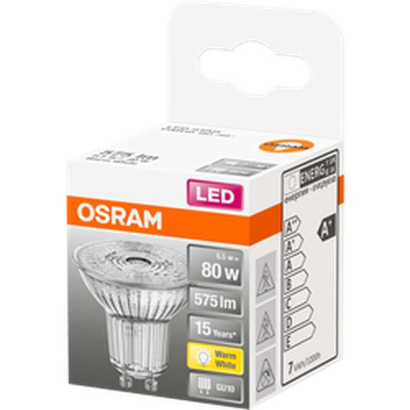 Ampoule LED Spot PAR16 80W culot GU10 - blanc chaud, Osram (x 1)