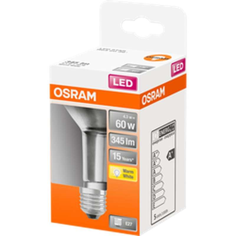 Ampoule LED Spot R63 60W culot à vis E27 - blanc chaud, Osram (x 1)