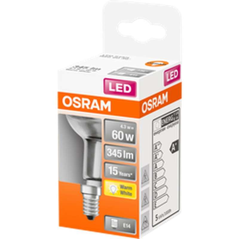 Ampoule LED Spot R50 60W culot à vis E14 - blanc chaud, Osram (x 1)