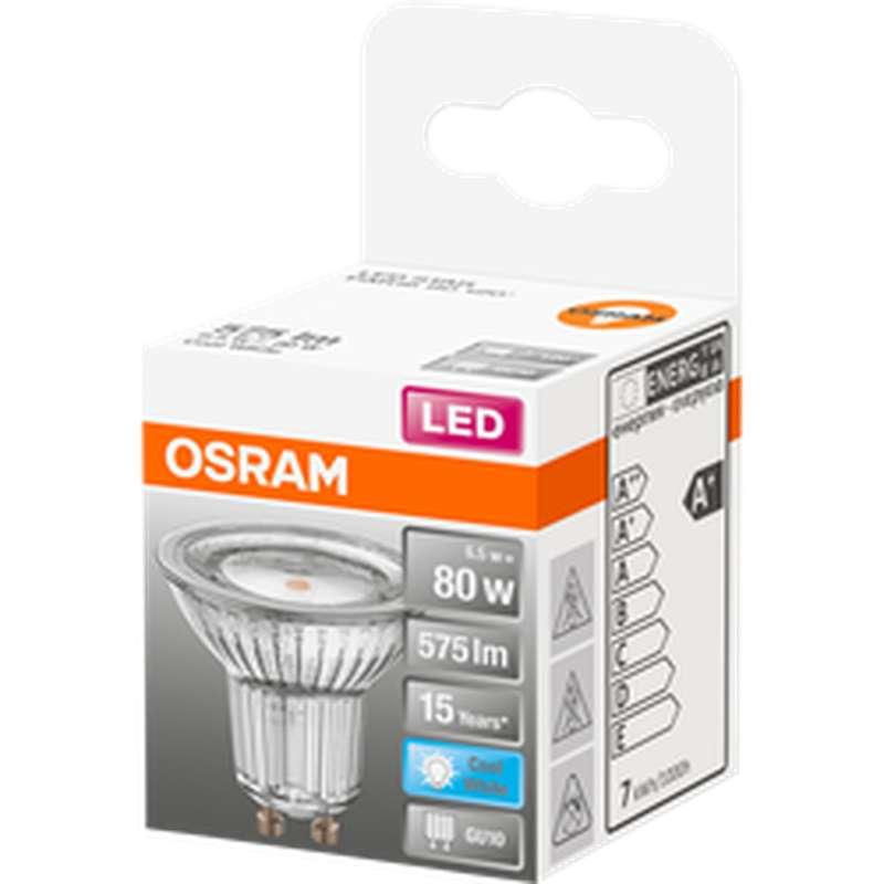 Ampoule LED Spot PAR16 80W culot GU10 - blanc froid, Osram (x 1)