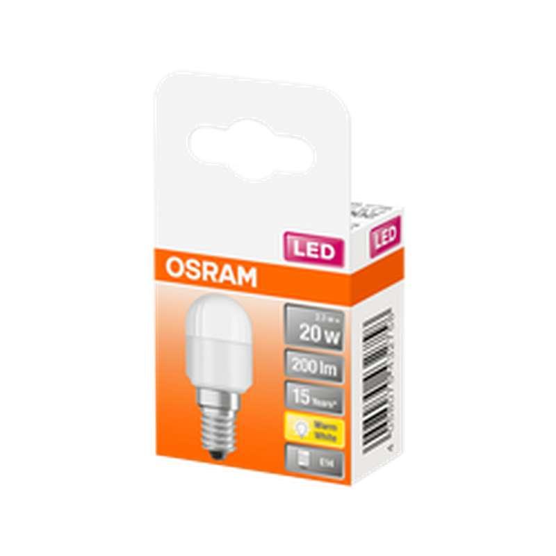 Ampoule dépolie mini tube LED à filament T26 20W culot à vis E14 - blanc chaud, Osram (x 1)