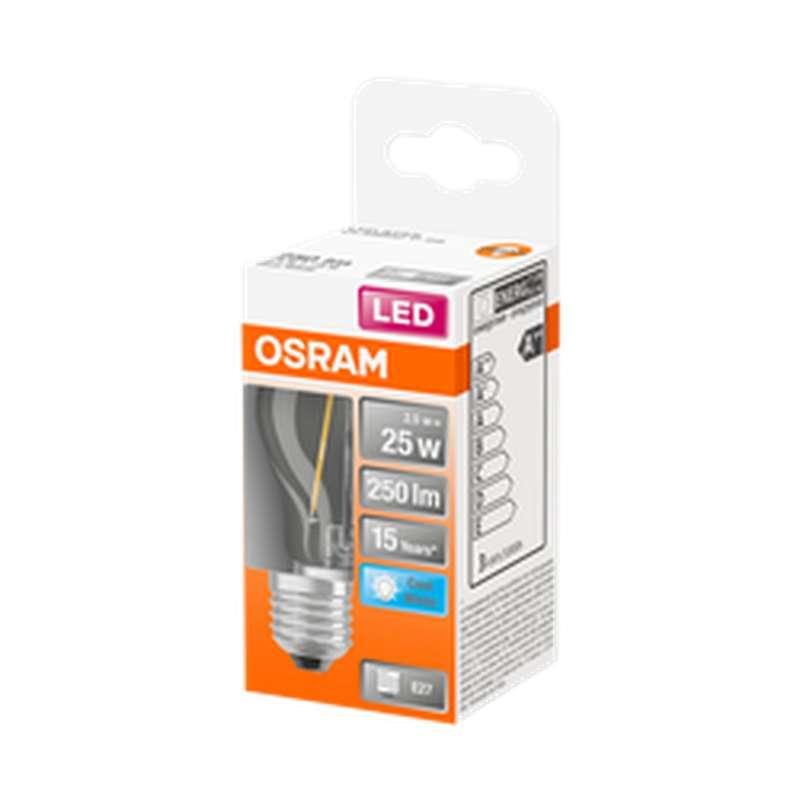 Ampoule ronde LED à filament 25W culot à vis E27 - blanc froid, Osram (x 1)