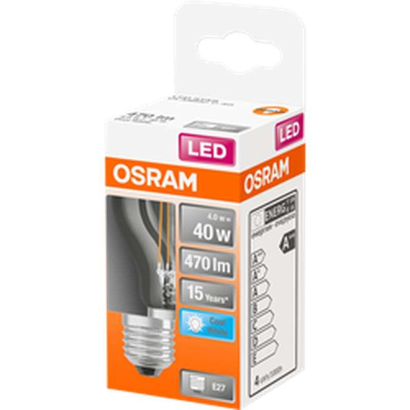 Ampoule sphérique LED à filament 40W culot à vis E27 - blanc froid, Osram (x 1)