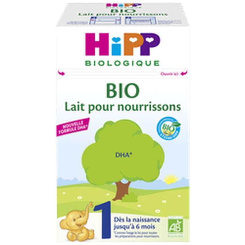 Lait pour nourrissons 1 BIO - de 0 à 6 mois - avec DHA, Hipp (600 g)