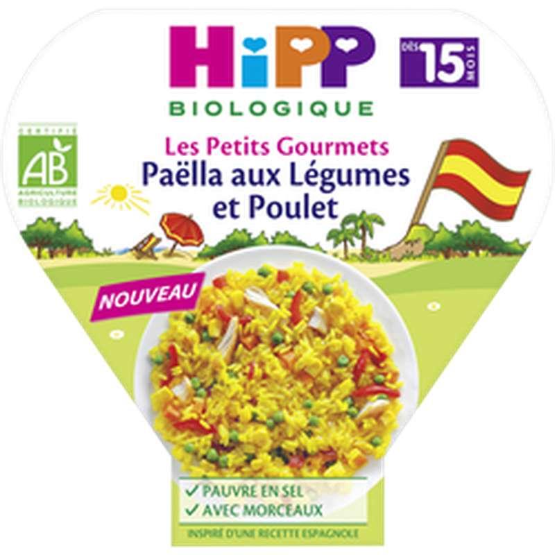 Les petits gourmets paella de légumes et poulet BIO - dès 15 mois, Hipp (250 g)
