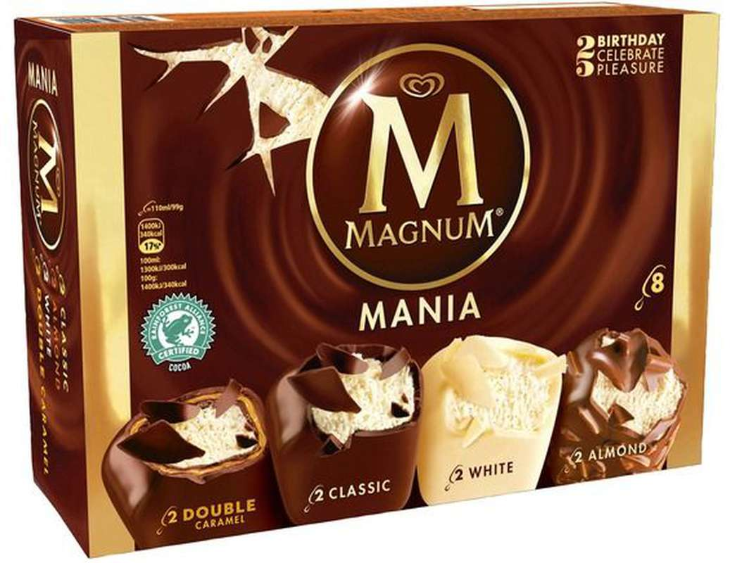 Glace Assortiment Mania, Magnum (x 8, 626 g)