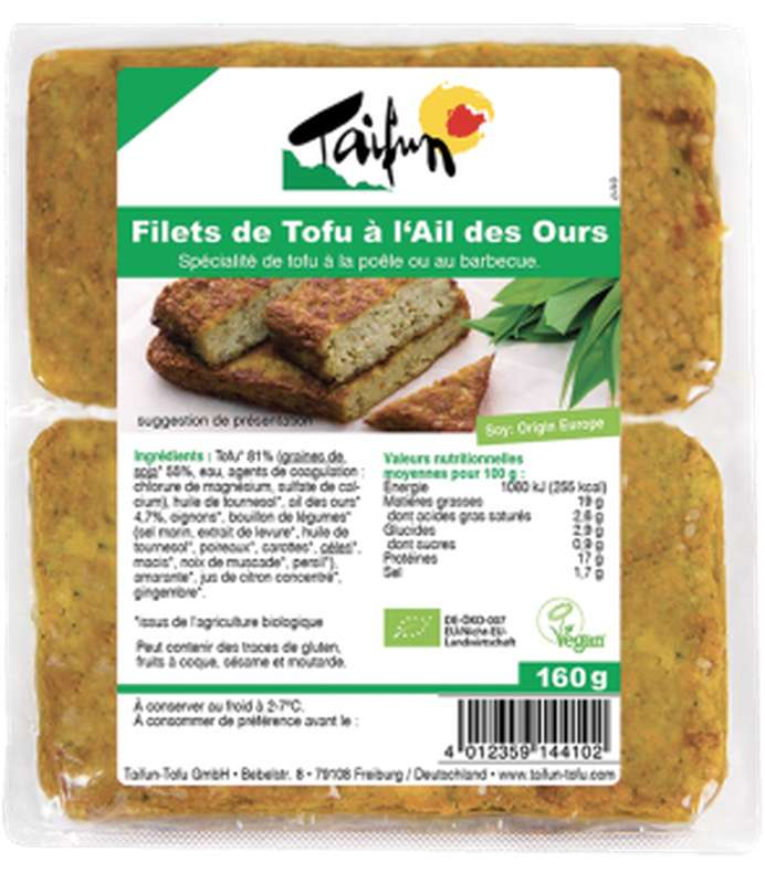 Filets de tofu à l'ail des ours BIO, Taifun (x 2, 160 g)
