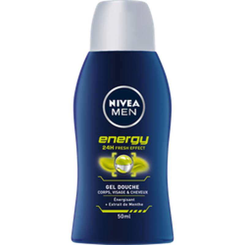 Mini gel douche energy, Nivea Men (50 ml)