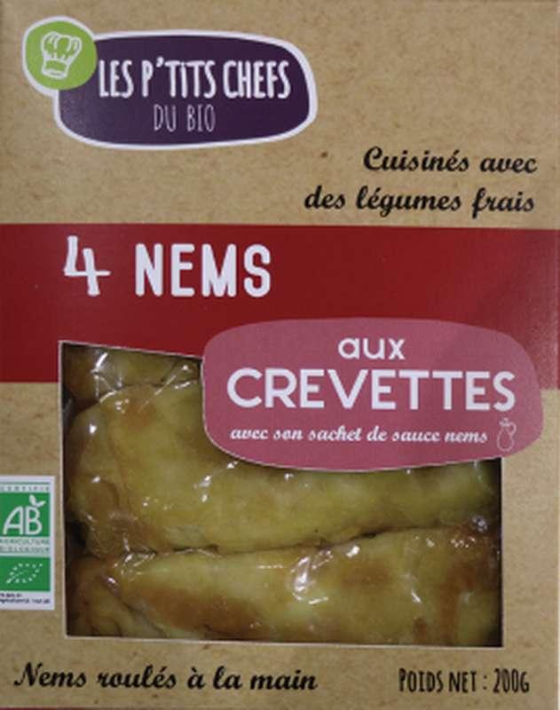 Nems aux crevettes BIO, Les P'tits Chefs du Bio (x 4, 200 g)
