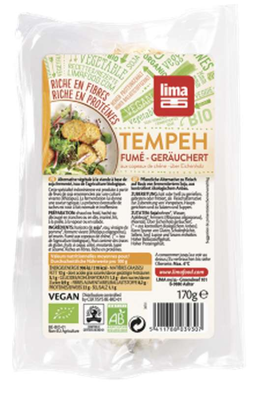 Tempeh frais fumé BIO, Lima Frais (170 g)