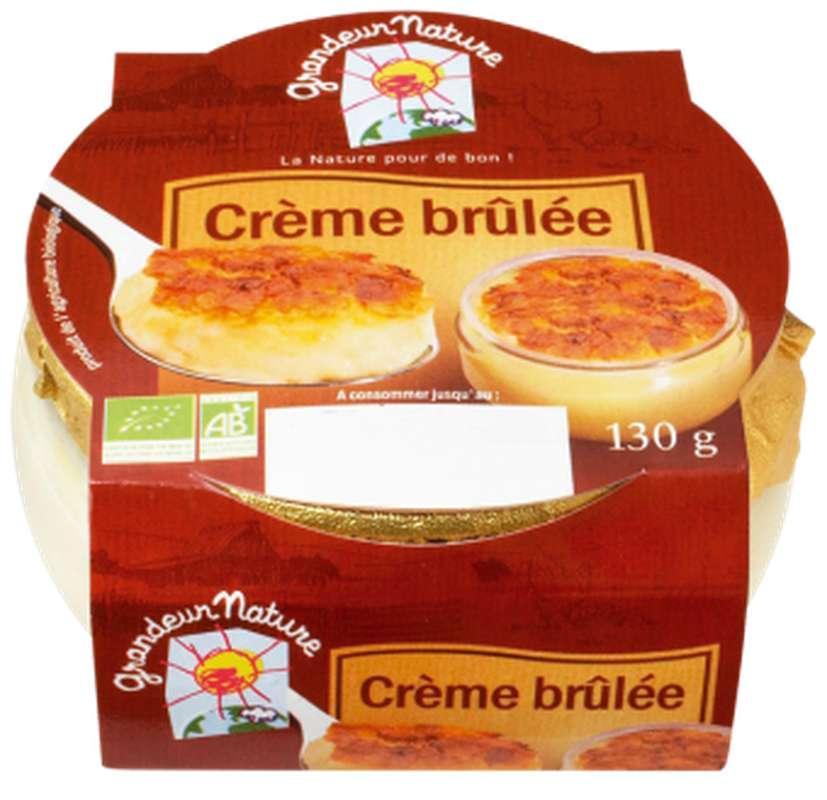 Crème brûlée BIO, Grandeur Nature (130 g)