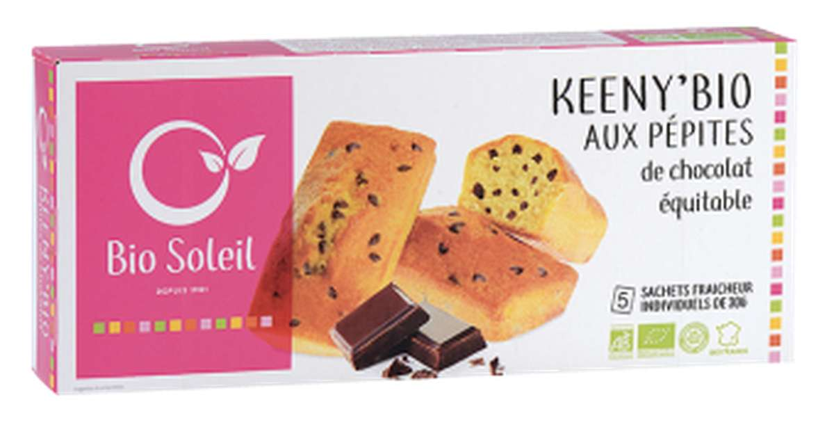 Keeny'Bio pépites de chocolat équitable BIO, Bio Soleil (150 g)