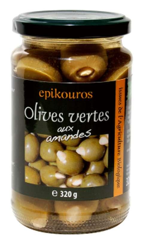 Olives vertes farcies aux amandes BIO, Epikouros (320 g)