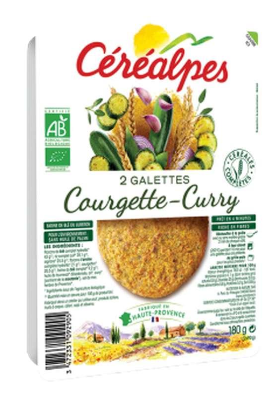 Galettes de céréales courgettes et curry BIO, Céréalpes (x 2, 180 g)