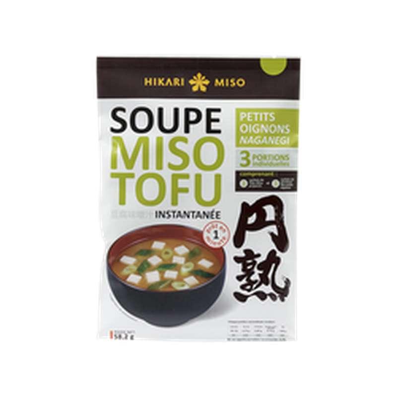 Soupe instantanée miso tofu oignons naganegi, Hirari Miso (58 g)