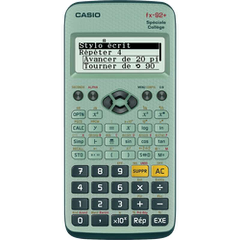 Calculatrice scientifique FX 92+ spéciale Collège, Casio