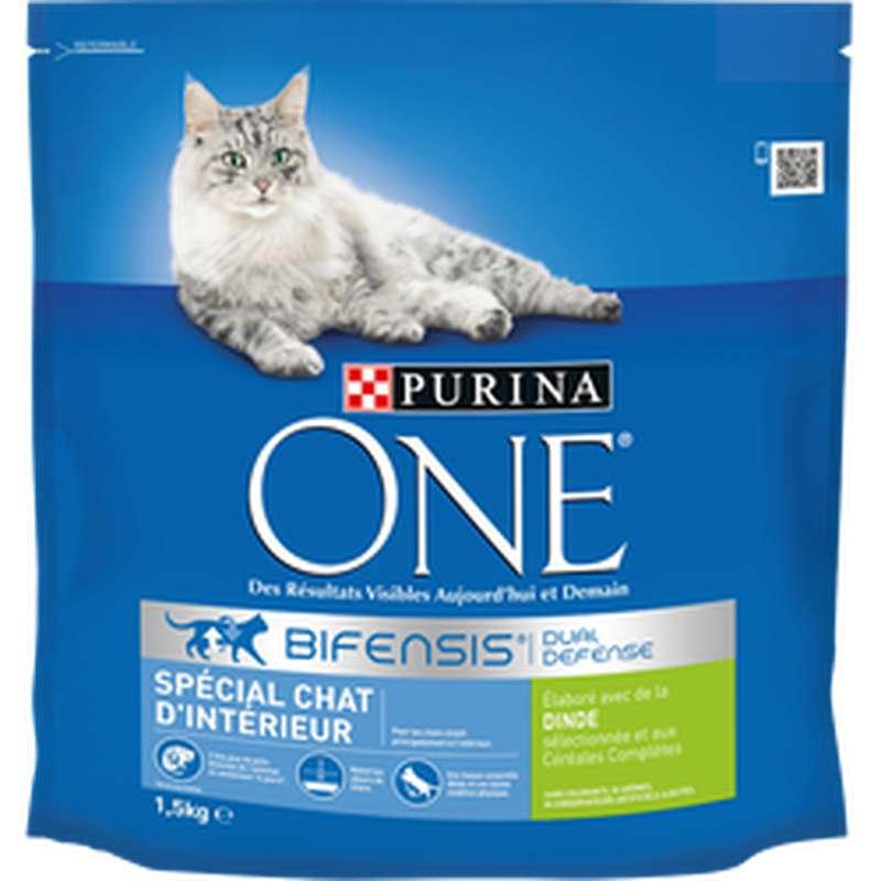 Croquettes pour chats adulte d'intérieur à la dinde, Purina One (1.5 kg)