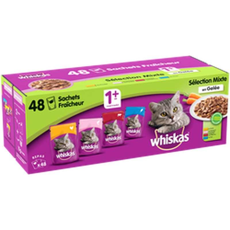 Gelée pour chats Recette du marché, Whiskas (48 x 100 g)