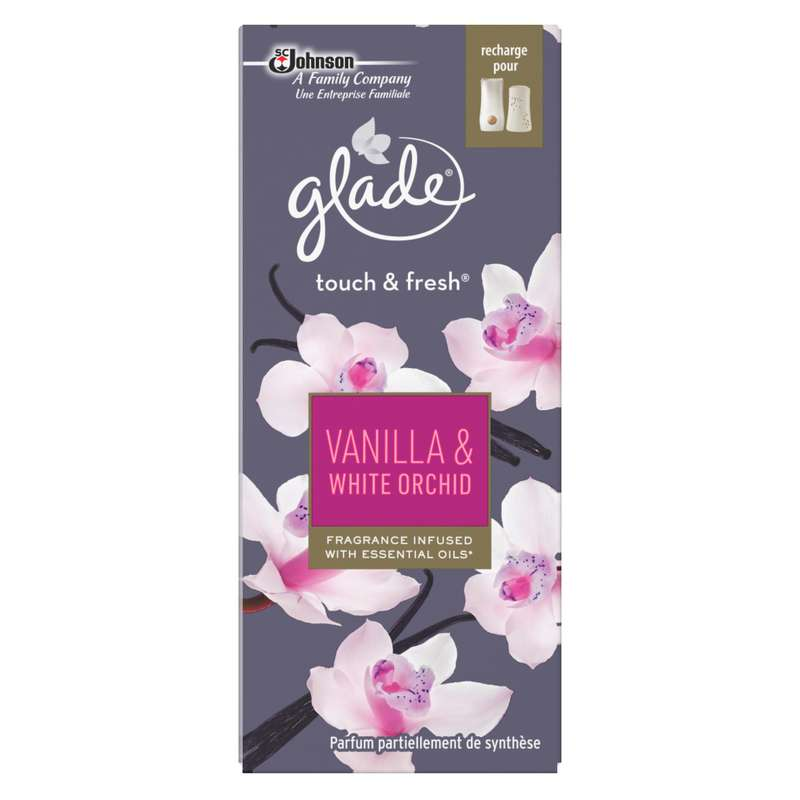 Recharge désodorisant Touch & Fresh vanilla & white orchid, Glade (10 ml)