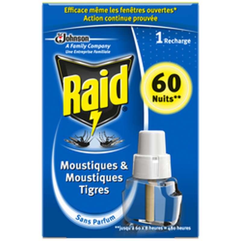 Recharge liquide pour diffuseur électrique anti-moustiques, Raid (60 nuits)