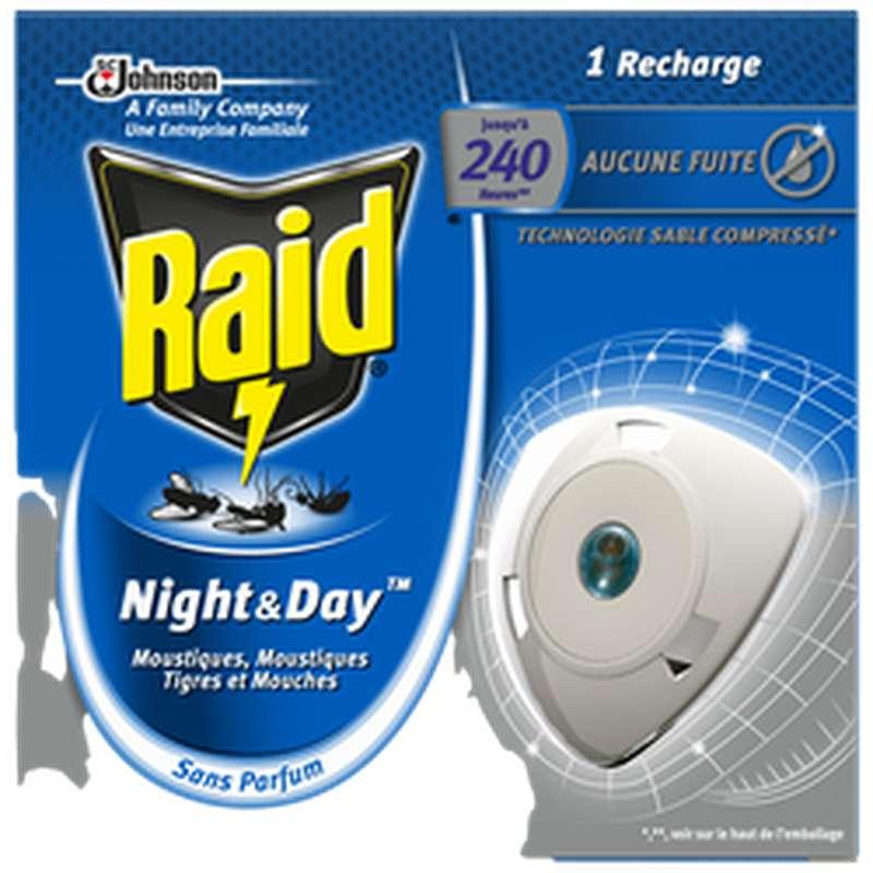 Recharge électrique pour diffuseur anti-mouches et moustiques Night & Day, Raid (x 1)
