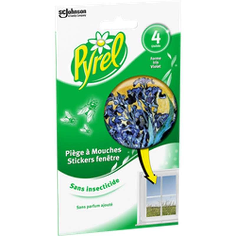 Piège à mouche stickers fenêtre iris, Pyrel (x 4)