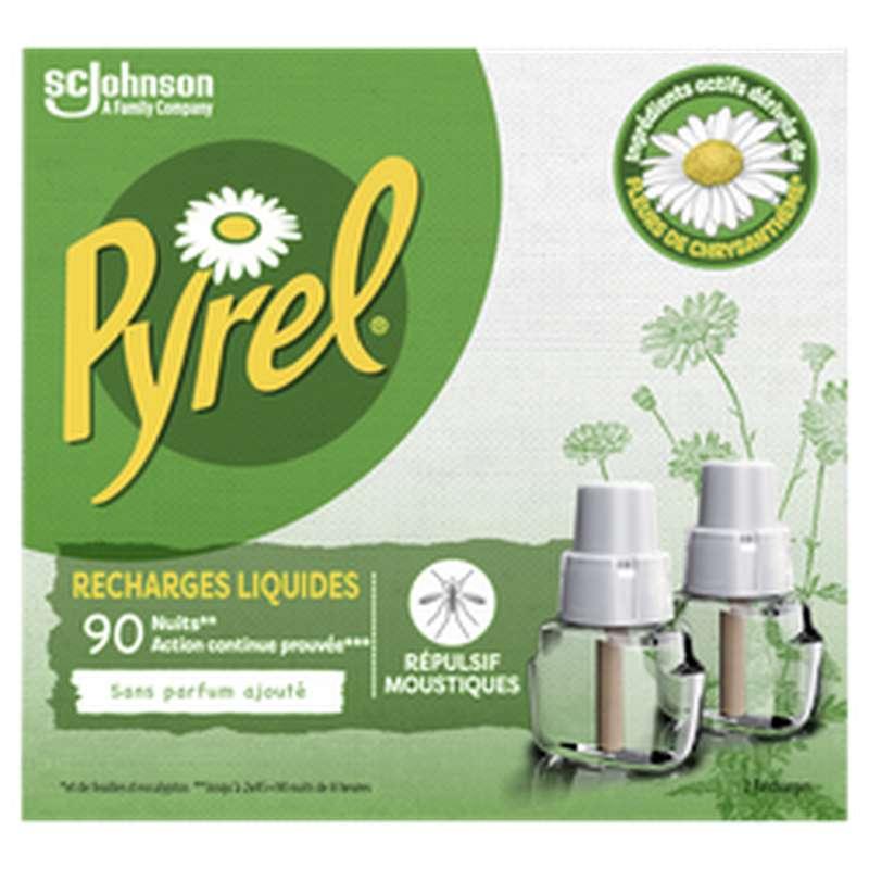 Recharge liquide anti-moustiques, Pyrel (x 2, 90 nuits)