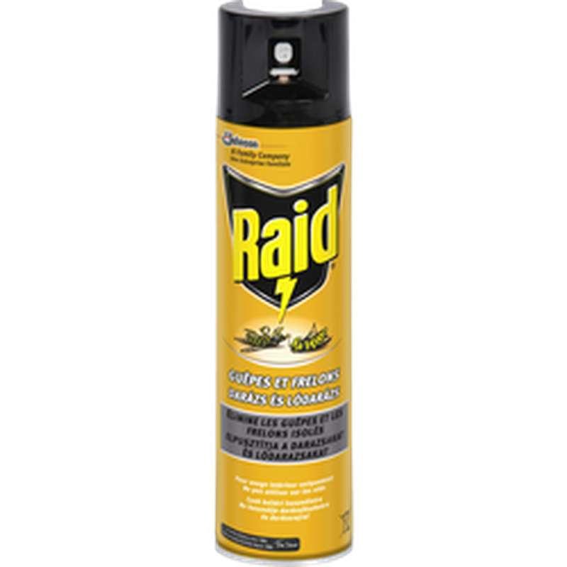 Spray insecticide guêpes et frelon, Raid (300 ml)