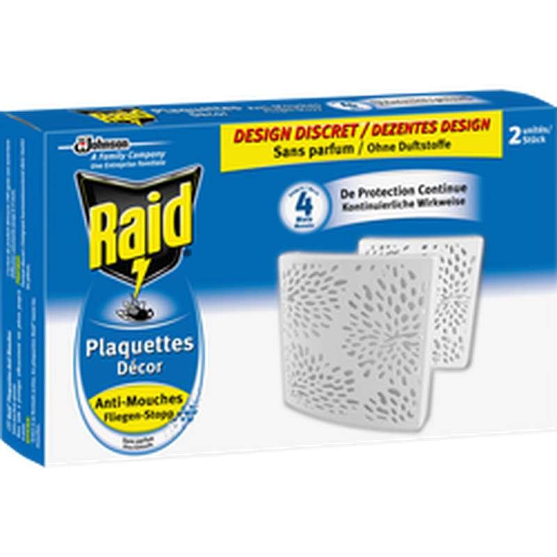 Plaquette anti-mouches, Raid (x 2)