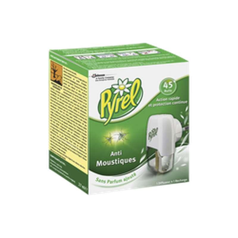 Diffuseur électrique + recharge liquide anti-moustiques, Pyrel (45 nuits)
