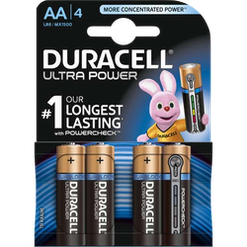 Piles AA/LR6 Ultra Power, Duracell (x 4)