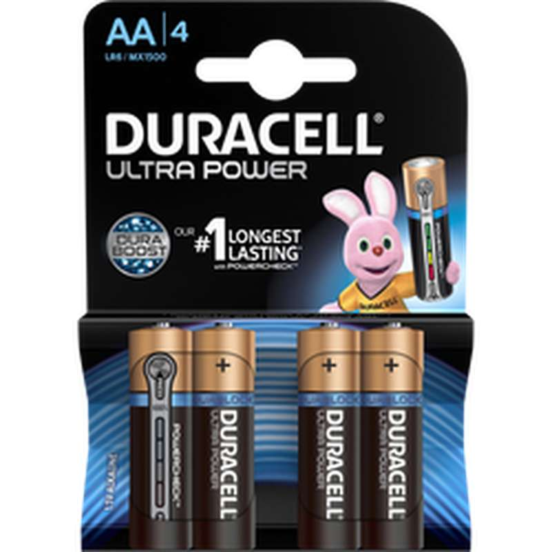 Piles AA/LR6 Cravate Ultra Power, Duracell (x 4)