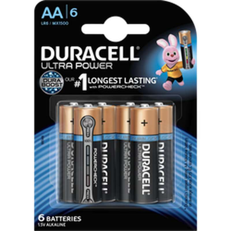 Piles AA/LR6 Ultra Power, Duracell (x 6)