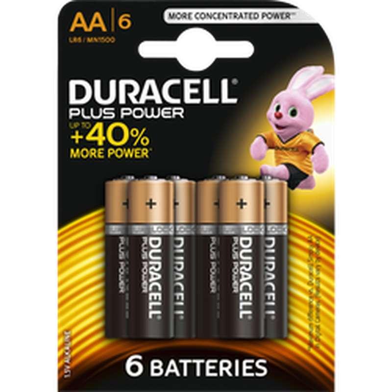 Piles AA/LR6 Plus Power, Duracell (x 6)