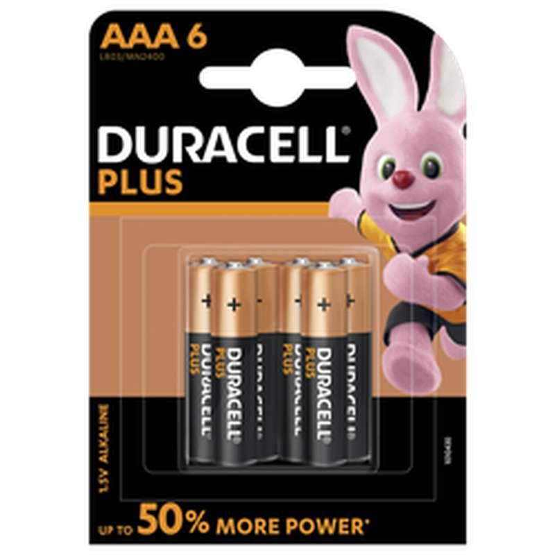 Piles AAA/LR03 Plus Power, Duracell (x 6)