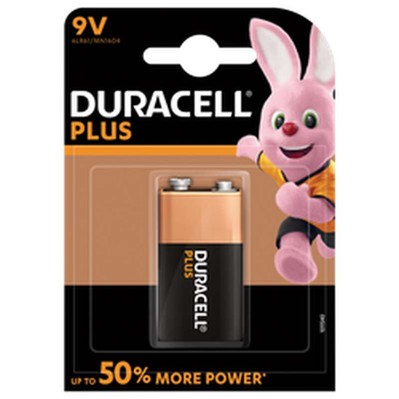 Pile Plus Power 6LR61, Duracell (9 V)