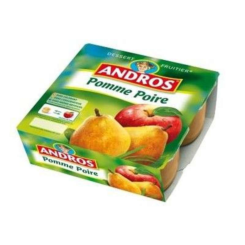 Compote pomme/poire, Andros (4 x 100 g)