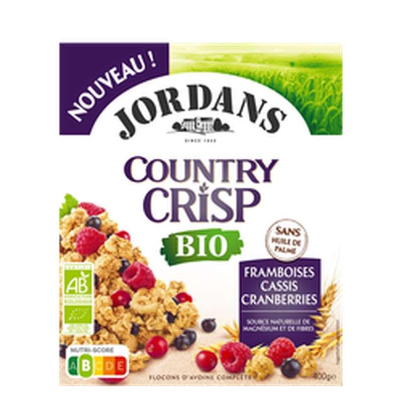 Céréales country crisp framboise cassis cramberries BIO, Jordans (400 g)