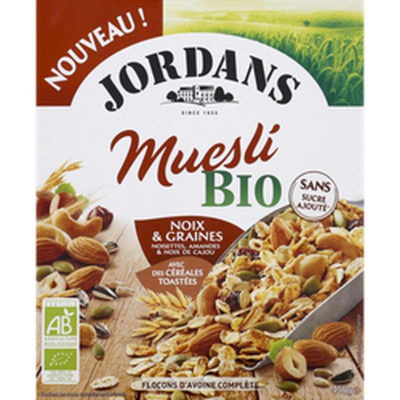 Céréales complètes muesli noix BIO, Jordans (450 g)