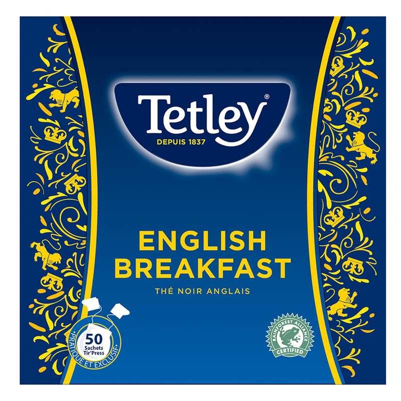 Thé English Breakfast, Tetley (50 sachets)
