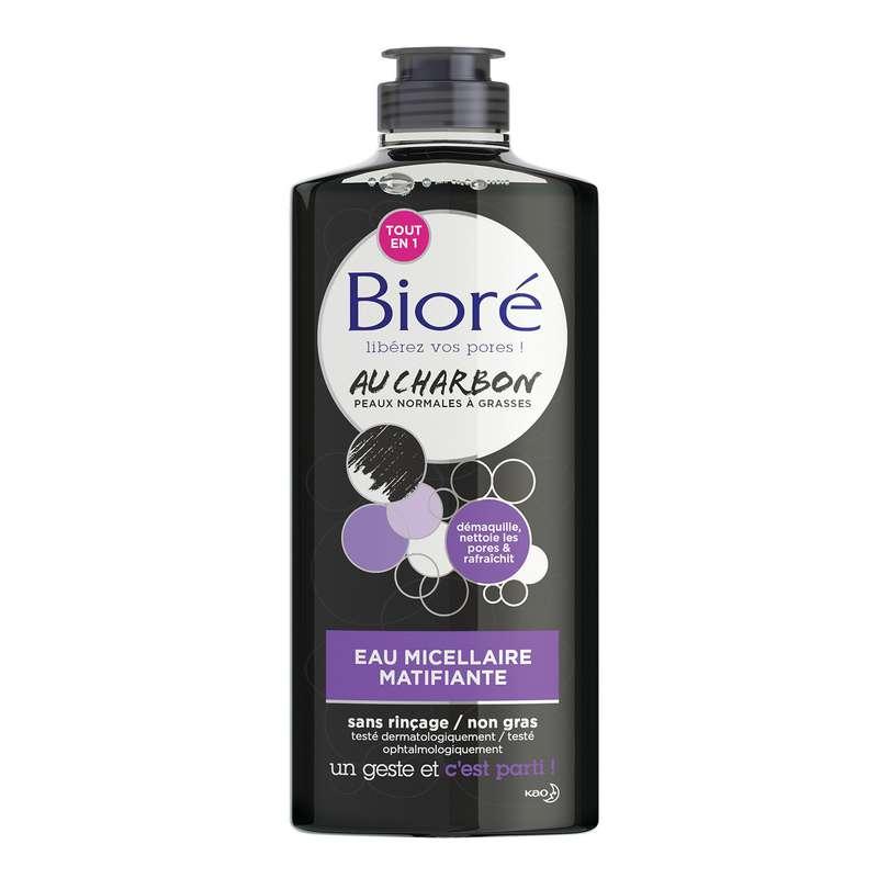 Eau micellaire matifiante au charbon, Bioré (300 ml)