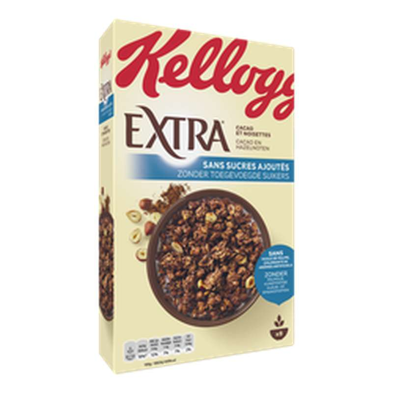 Céréales cacao noisettes EXTRA, Kellogg's (400 g)