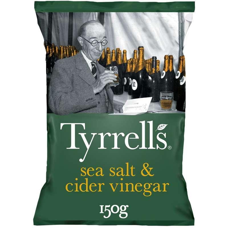 Chips sel de mer/vinaigre cidre, Tyrrell's (150 g)