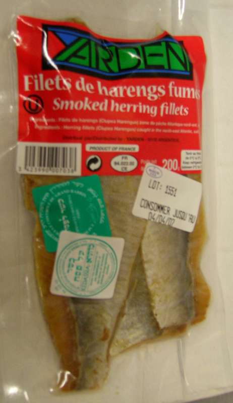 Filets de hareng fumé, Yarden (200 g)