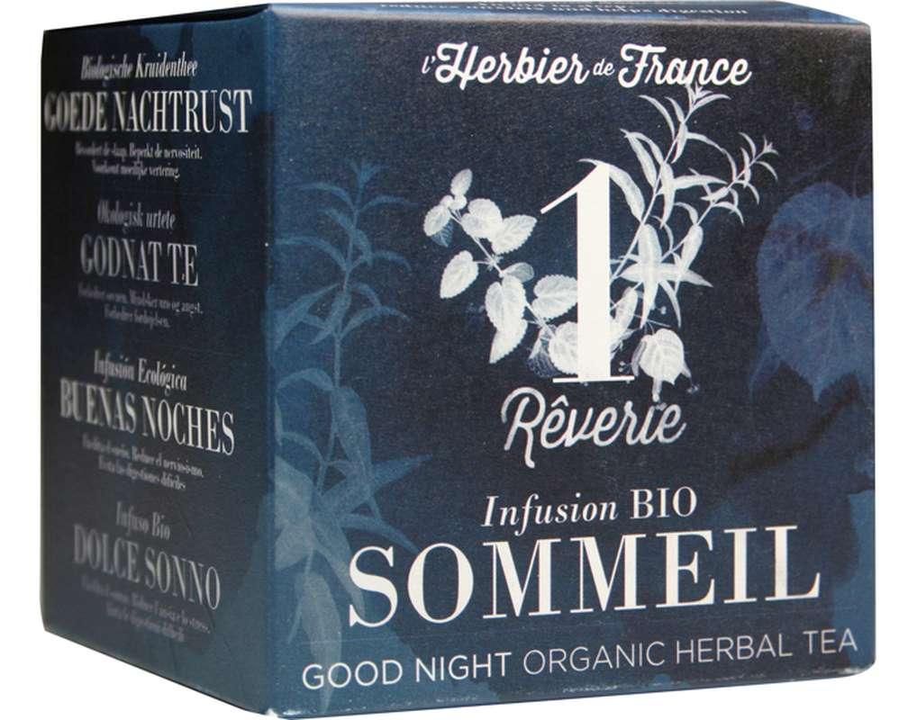Infusion n°1 Sommeil - Rêverie BIO, Herbier de France (x 15 sachets)