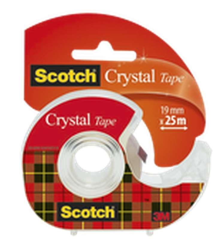 Ruban adhésif Crystal transparent + dévidoir, Scotch (19 mm x 25 m)