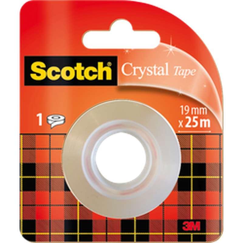 Ruban adhésif Crystal transparent, Scotch (25 m x 19 mm)