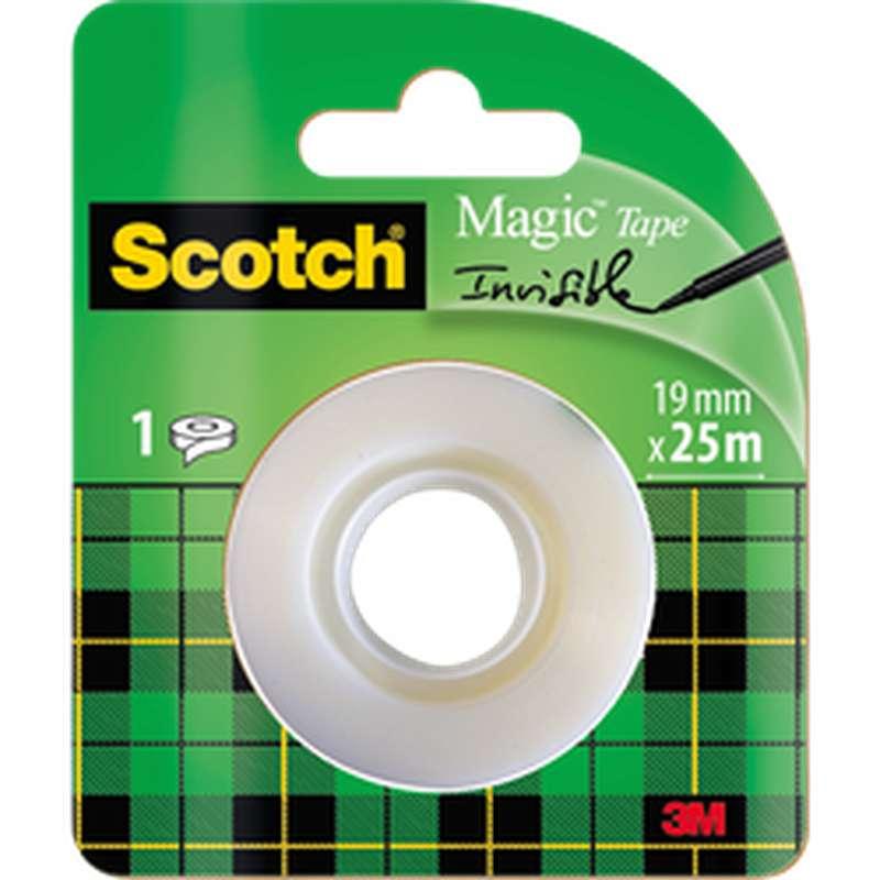 Ruban adhésif Magic invisible, Scotch (25 m x 19 mm)