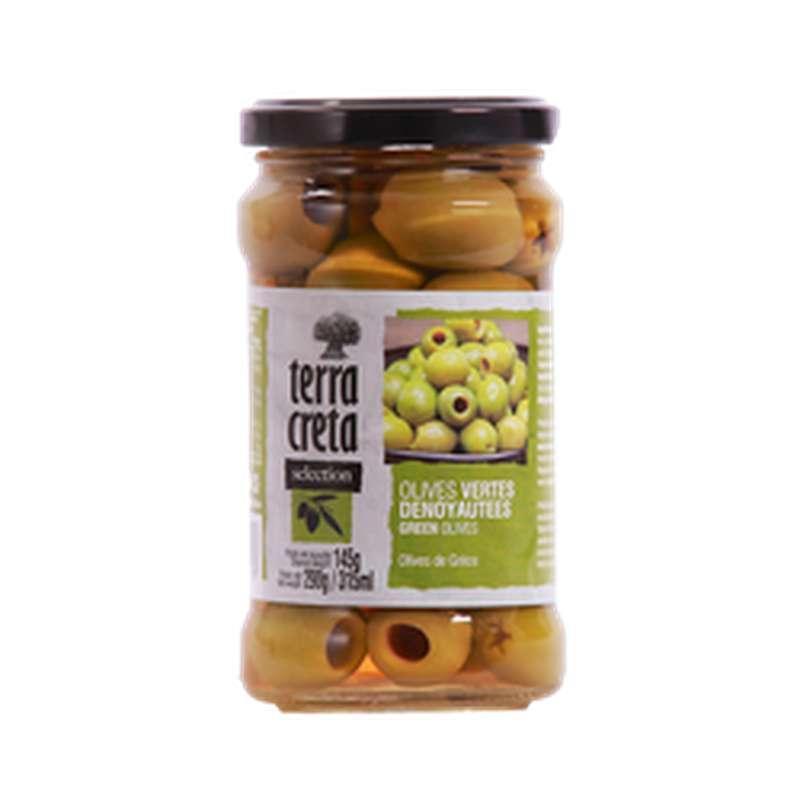 Olives vertes dénoyautées, Terra Creta (145 g)
